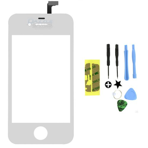 Touch Screen Glass Digitizer Replacement For Iphone 4 4G At&T Gsm White + Tools