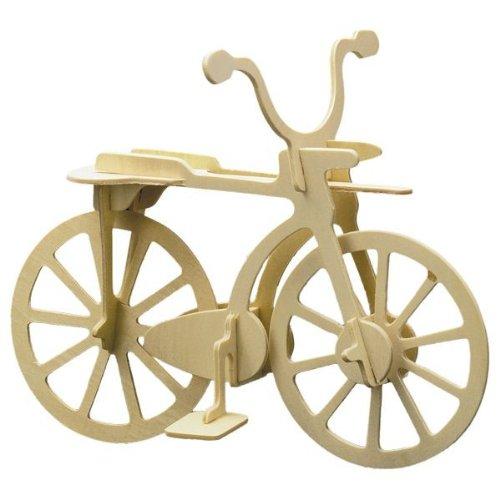 Holz Bausatz Fahrrad 11-tlg. 20x15 cm Steckbausatz f. Kinder Holzbausatz