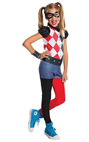 Warner-I-620744L-Disfraz para niña, diseño de Super héros-Harley Quinn-talla L