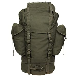 German Military Water-Resistant Rucksack Bag 65L Olive