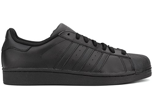 Adidas Originals Men's Superstar Foundation Casual Sneaker, Black/Black/Black, 10.5 M US