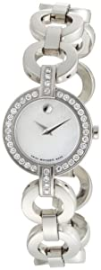 Movado Women's 606265 Belamoda Stainless-Steel with Diamonds Mother of pearl Dial Bracelet Watch