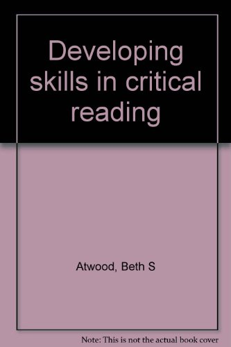 Developing skills in critical reading