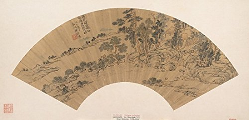 """Landscape with Figure Poster Print by Chen Guan (Chinese active ca 1610 """"40) (18 x 24)"""