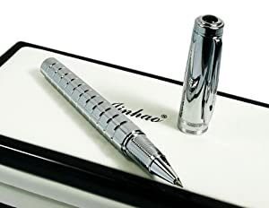 Jinhao Silvery Mirror Carved Hooded Nib Roller Ball Pen