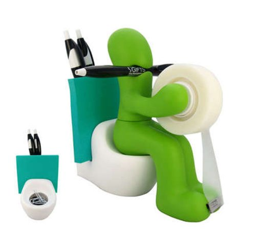 RICSB 'The Butt' Office Supply Station Desk Accessory Holder, Green – Pencil Holders