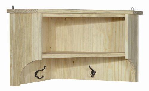 Wooden Corner Wall Shelf