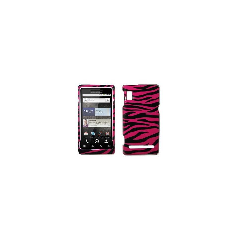 Hot Pink Zebra Skin Design Hard Cover Crystal Case for Motorola Droid 2 A955