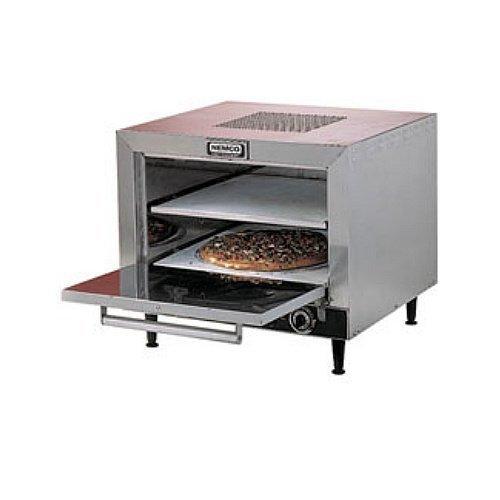 Nemco 6205-240 Countertop Pizza Oven With Square Stone Decks, 25-Inch