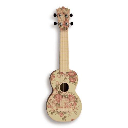 """Woodi Usa Soprano 21"""" Ukulele Pattern 2 Wu-21F2(Wh)"""