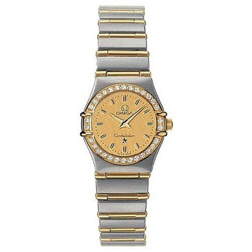 Omega Women's 1267.10.00 Constellation Quartz Mini Diamond Bezel Watch