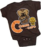 C Is For Chewie And C-3PO -- Star Wars Infant One-Piece Snapsuit