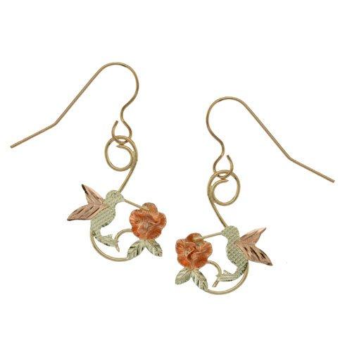 Black Hills Gold 10K Hummingbird Earrings