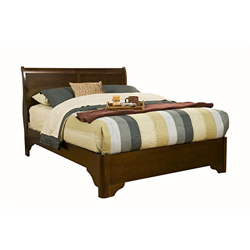 Queen Low Profile Sleigh Bed In Cappuccino