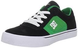 DC Kids Cole Pro Skate Shoe (Little Kid/Big Kid),Black/Kelly Green,6 M Big Kid