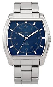 Ben Sherman Men's Quartz Watch with Blue Dial Analogue Display and Silver Bracelet BS035