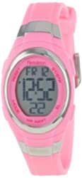 Armitron Sport Women's 45/7034PNK Stainless Steel Accented Pink Resin Strap Chronograph Digital Watch