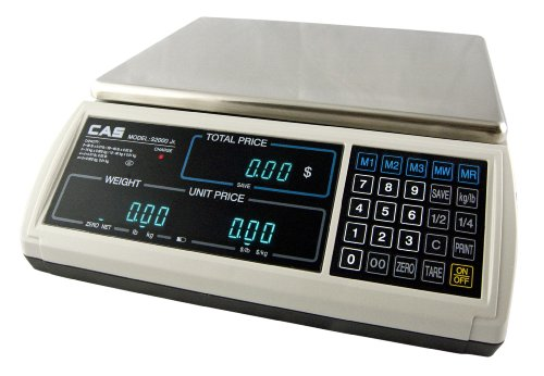 Cas S-2000 Jr Price Computing Scale With Vfd Display 30 Lbs