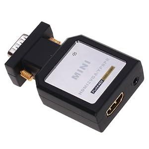 変換器 HDMI to VGA / Component 【HDCOM-001】