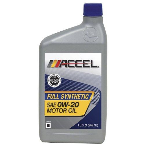 Accel 62695 sae 0w 20 full synthetic motor oil 1 quart for Sae 20 motor oil