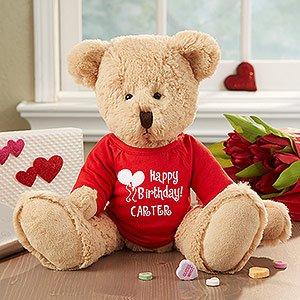 Personalized Birthday Stuffed Teddy Bear - Ty Happy Birthday Bear front-1014535