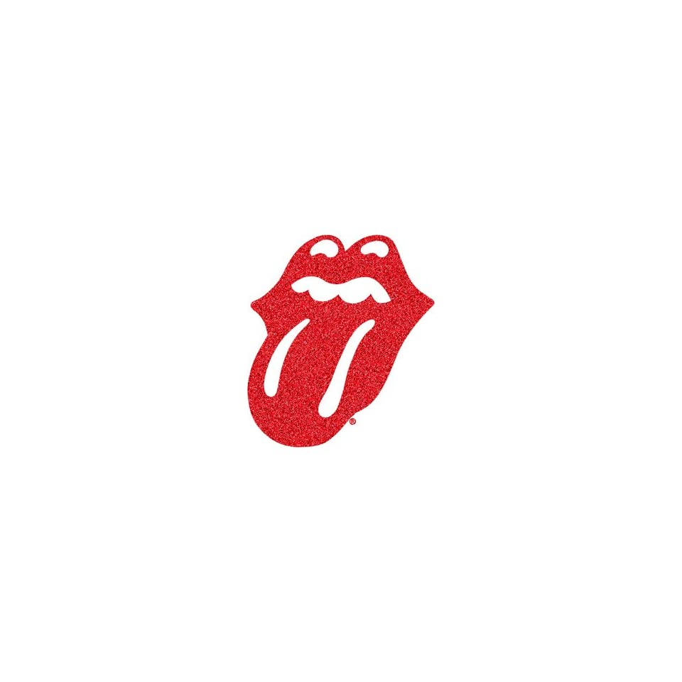 THE ROLLING STONES RED GLITTER TONGUE RUB ON STICKER