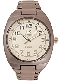 GATTS COLLECTION Round Shaped White Dial Analog Watch - For Men-Silver - B01DT7GYK0