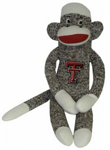 NCAA Texas Tech Red Raiders Plush Sock Monkey at 'Sock Monkeys'