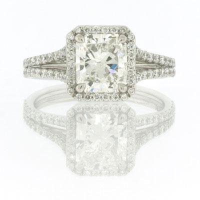 2.61ct Radiant Cut Diamond Engagement Anniversary