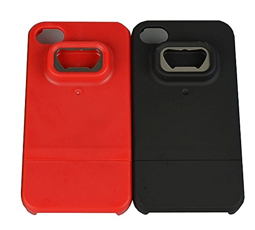Hard Case and Bottle Opener for Iphone 4/4s,at&t, Verizon, T-mobil, Sprint By Giftkoncepts (Black)