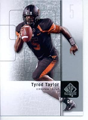 2011 SP Authentic Football Cards #1 Tyrod Taylor RC - Virginia Tech Hokies (RC - Rookie Card) Baltimore Ravens (NFL Trading Card)