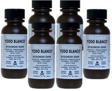 6pk iode d color e iode blanc blanco yodo partir de vente commander acheter. Black Bedroom Furniture Sets. Home Design Ideas