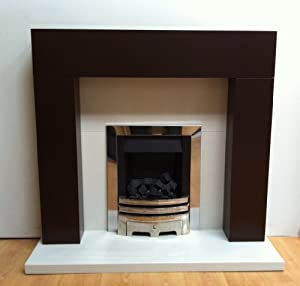 Barnsouth Orbit Fireplace Surround Only in Chocolate finish by Barnsouth