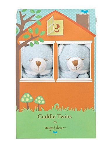 Angel Dear Cuddle Twin Set, Blue Bear