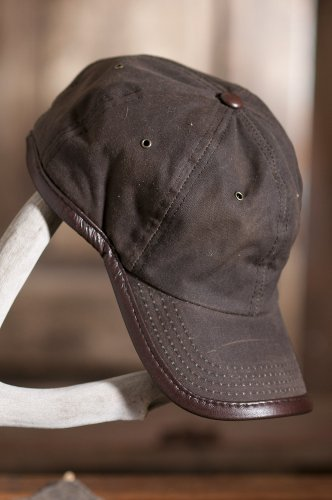 Oil Cloth Amp Leather Baseball Cap By Leather Factory Outlet