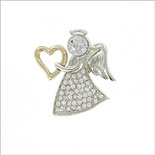 Guardian Angel with Heart Design Pin #036971