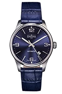 Davosa Gentlemen's Automatic Watch with Blue Dial Analogue Display and Blue Leather Strap 16151044