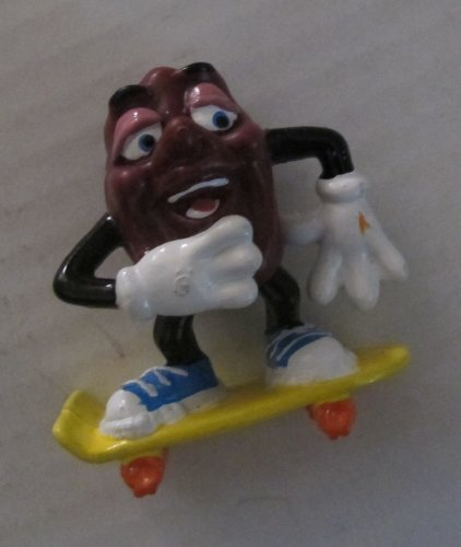 Vintage Pvc Figure California Raisins w/ Skateboard