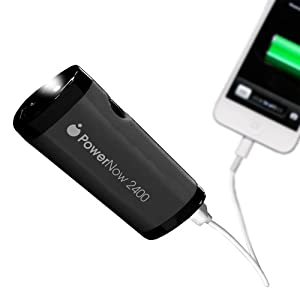 Datexx Power Now USB Mobile Battery Charge with Smart Jack and LED Light - Retail Packaging - Black
