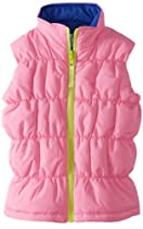 Hartstrings Girls 2-6X Reversible Puffer Vest, Sugar Plum, 4