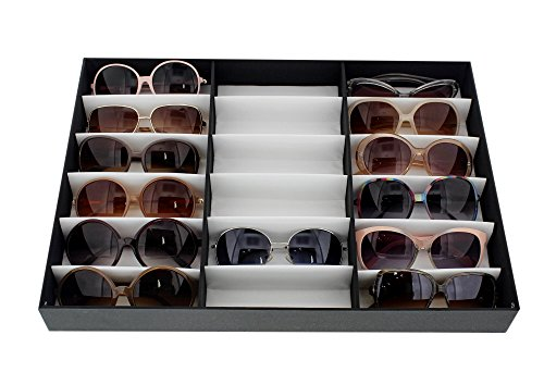 18-Slot-Display-Case-185L-x-1425W-x-25H-in-Glasses-Rack-Eyewear-Eyeglasses-Sunglasses-Stand-Storage-Tray