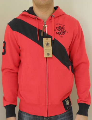 Nickelson Mens NMD0011 Heavyweight Zipped Hoody Red Large