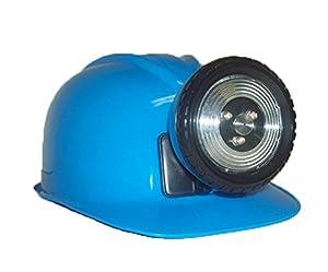 Childrens Construction Lighted Miner Hard Hat Bright Blue