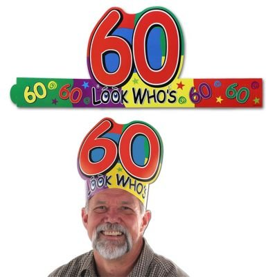 "Look Who's ""60"" Headband Party Accessory"