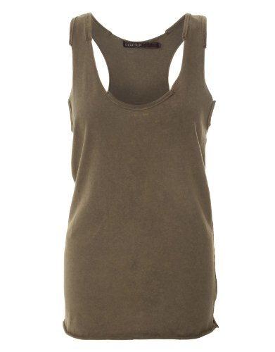 Crafted Racer-Back Vest - Khaki - Womens