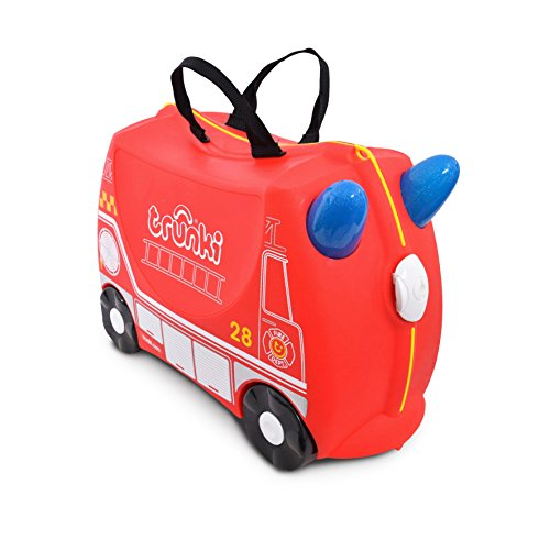 New Trunki The Original Ride-On Frank Suitcase, Red