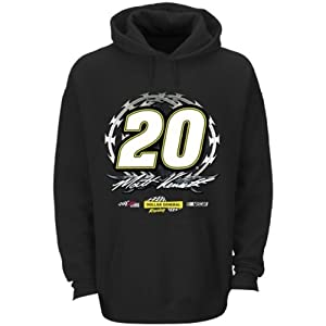 Nascar Matt Kenseth Dollar General Fan Up Black Pullover Hoodie Mens Large