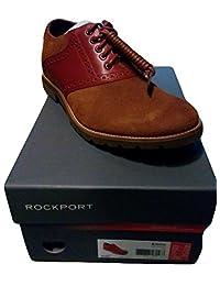 Rockport Mens Oxford Dress Shoes Size 10.5 M A10615 Sr Saddle Navy Leather
