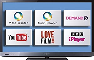 Sony KDL40EX523BU 40-inch Widescreen Full HD 1080p Edge LED Internet TV with Freeview HD