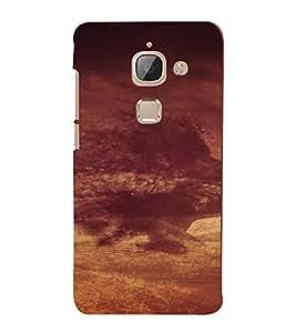 PrintVisa Cloudy Face Design 3D Hard Polycarbonate Designer Back Case Cover for LeEco 2S
